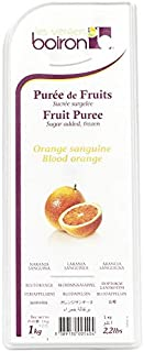 Boiron Blood Orange Fruit Puree - 2.2 lbs - Finest Fruit Puree for Cocktails, Smoothies, Healthy Drinks from France
