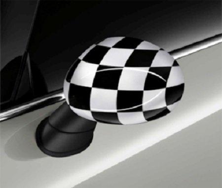 Original MINI Außenspiegelkappen Checkered Flag Black/White für MINI F55 F56 F57
