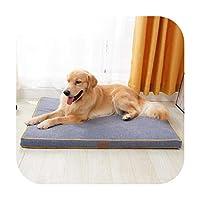 ソフトペットドッグスリーパーソファベッドウィンターウォームコーデュロイ素材レストハウスラウンジャーペットマットネスト大型犬用-2-100X70X6CM