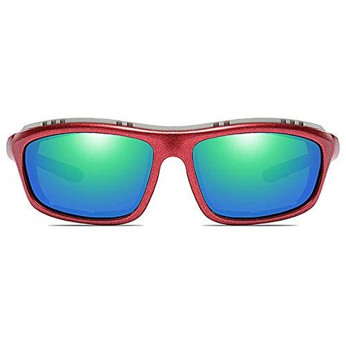 LG Snow Bicicleta De Escalada Material De PC Gafas De Sol UV400 De Colores Rojo/Naranja/Azul Hombres Y Mujeres con Las Mismas Gafas De Sol Polarizadas (Color : Red)