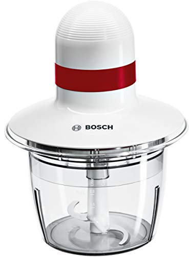Bosch MMRP1000 Universal-Zerkleinerer 400 W, 0,8 Liter, 0 Dezibel, Kunststoff, Klingen aus Edelstahl, Weiß
