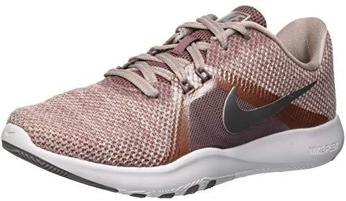 Nike Damen Sportschuh Flex Trainer 8 Premium Laufschuhe, Mehrfarbig (Smokey Mauve/Diffused Taupe/Gunsmoke 200), 42 EU