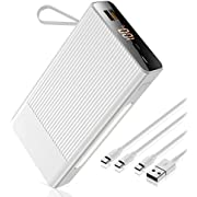 40000M Portable Charger Power Bank Fast Charging,22.5W PD USB C 5A High-Speed External Battery 30000mAh with 3 Outputs & 3 Inputs Battery Pack Cell Phone Compatible with iPhone, Samsung and More.