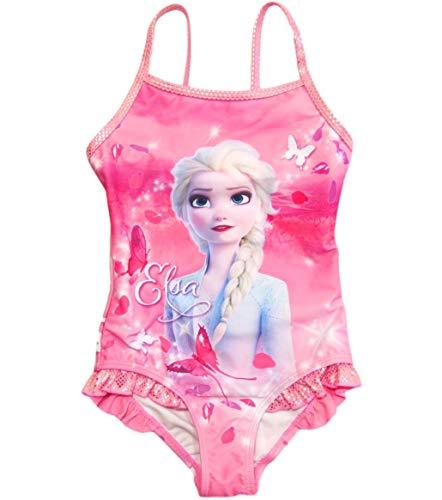 Frozen 2 Badeanzug Die Eiskönigin Anna und ELSA Disney (Rosa, 128)