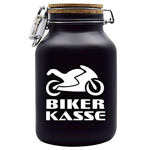 Hucha para dinero, diseño de caja de bicicleta, color negro, XXL