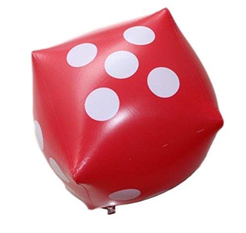 XPdesign ジャンボサイコロ 大きいサイコロ ビーチボール サイコロ 大きい 巨大 ビッグ ジャンボ 巨大ビーチボール (55cm 赤色 1個)