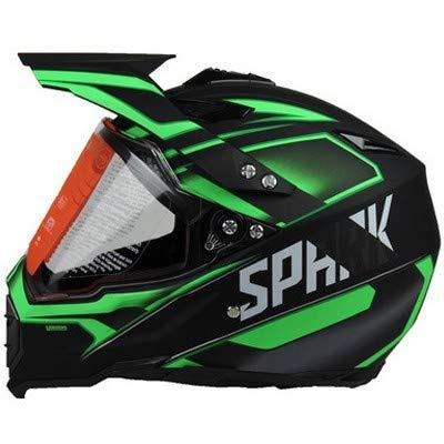 Motocross Helm Full Face Erwachsene Offroad Helme Dirt Bike Männer Frauen Motorrad Helm-Matte Black Green Force, L