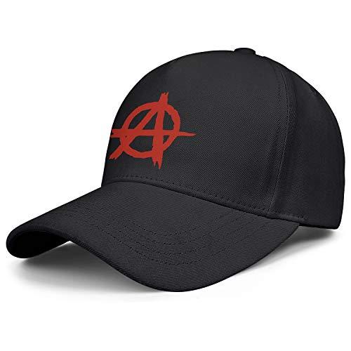 Men Women Red Graffiti Anarchy Symbol Adjustable Sandwich Hat Baseball Cap