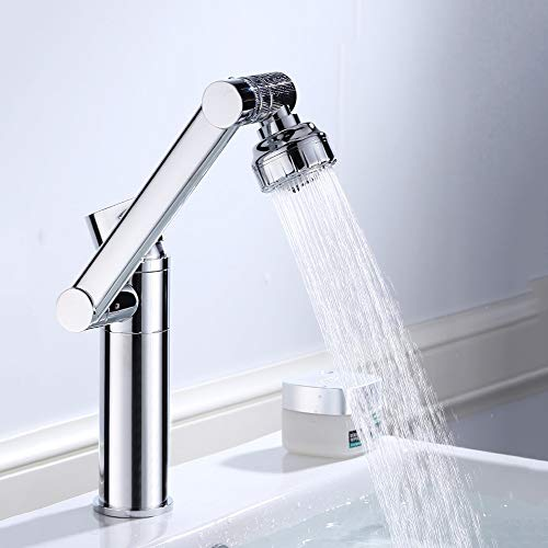 Mixer Tap High End Brand Taps Bathroom Cold Heat Pullable Faucet Bathroom Basin Telescopic Lifting Rotate Vertical Water-tap Height 30 Cm Station Under Tap (Size : 300MM)
