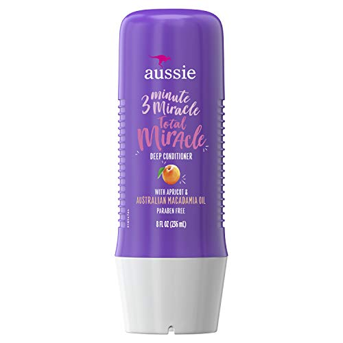 Damage Repair - Aussie Paraben-Free Total Miracle 3 Minute Miracle Conditioner w/ Apricot, 8.0 fl oz (Packaging May Vary)