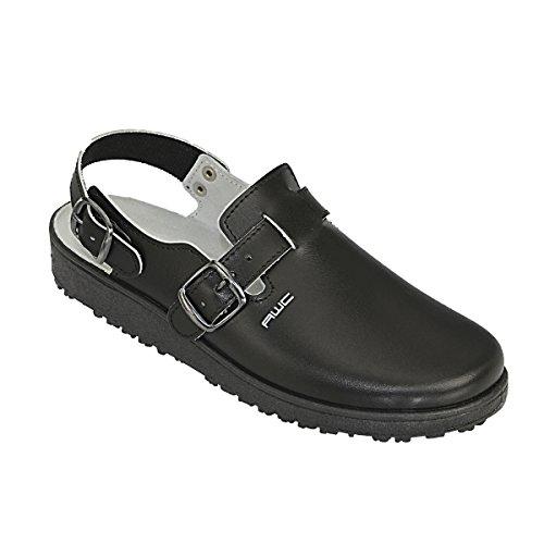 AWC-Footwear Unisex-Erwachsene Sandale Arbeitsschuhe, Schwarz (Schwarz), 40 EU