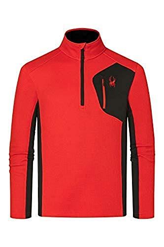 Spyder Herren Bandit Half Zip Jacke, rot (Volcano), XL