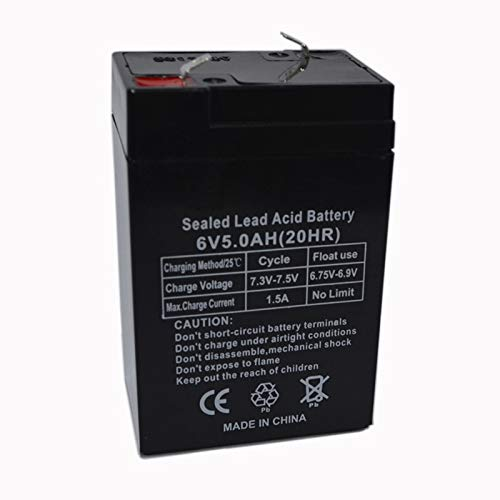 ROZIN 6V 5.0AH Baterías De Almacenamiento 4AH 5AH Baterías Recargables De Plomo Ácido para Niños Coche Eléctrico Electrónico Dicho Luces De Emergencia