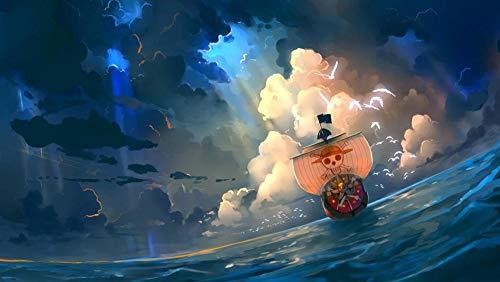 GUANGMANG Rompecabezas De 1000 Piezas para Adultos Niño,Póster One Piece: Monkey D.Luffy Anime Juego Familiar, Formación De Equipos,Regalos para Amantes O Amigos -75×50Cm