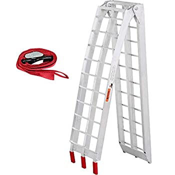 Yaheetech Foldable 7.5 ft Aluminum Motorcycle Loading Ramp