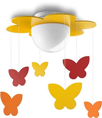 Philips MyKidsroom LED Deckenleuchte Meria, Holz, gelb