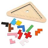 YSY Rompecabezas de Madera Tetris Puzzle niños desafío del Cerebro, Rompecabezas de Madera Caja Juego de Rompecabezas de Madera Tangram Juguetes Regalos Nuevo Embalaje