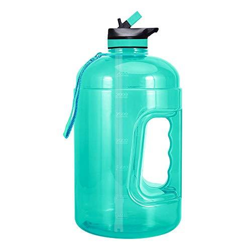 Galón Gradiente De Color Deportes Botella De Agua - Fitness Sports Plástico Botella De Agua Con Motivación Por Marcadores De Tiempo Para Los Deportes Al Aire Libre Ciclismo Camping (2.2L / 3.7L) C
