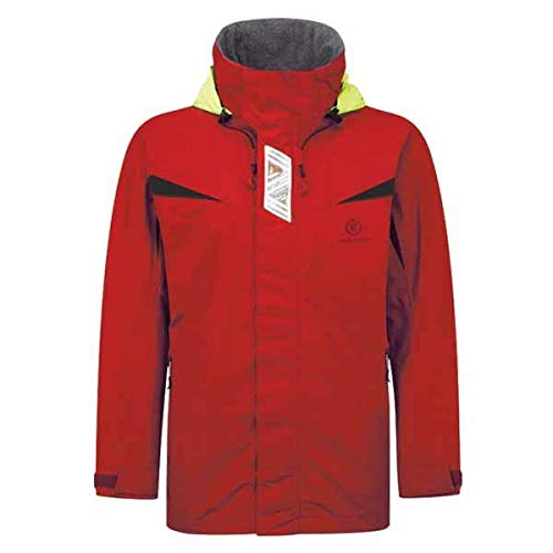 Henri Lloyd Wave Inshore Sailing & Yachting Coat Cappotto Cappotto costiero Nuovo Rosso. Impermeabile - Cappa articolata