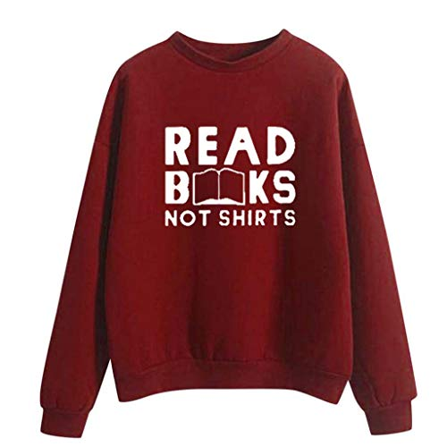 For Sale! TWGONE Womens Long Sleeve Tops 2019 Funny Saying Shirts Winter Printing High Collar Plus S...
