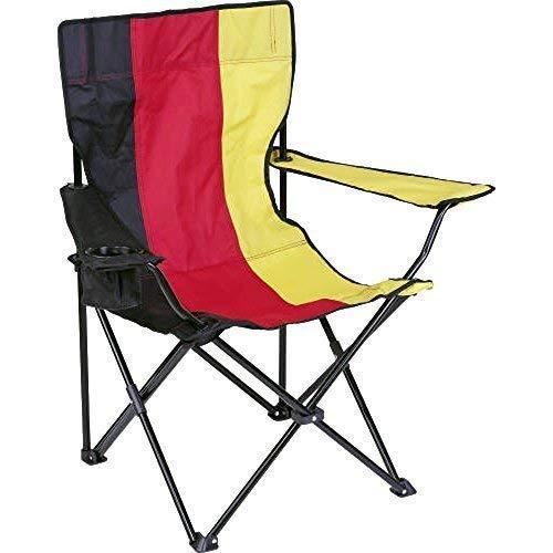 Fan-O-Menal Campingstuhl Deutschland mit Getränkehalterung Faltstuhl Klappstuhl 72103