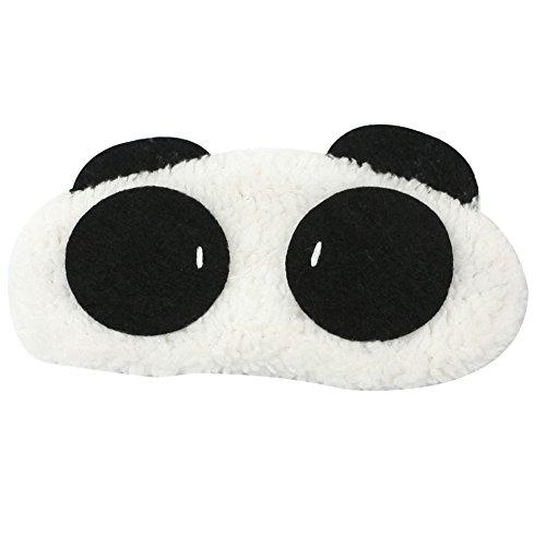 Lumanuby - 1 antifaz de peluche para dormir y relajarse, color negro, 16,5 x 7,0 cm, serie
