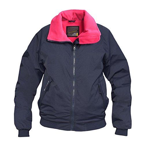 crazy4sailing Damen Snug Jacke Anholt, Farbe:Navy/Candy, Größe:M