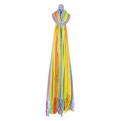 Regenbogen-Schal Pastell