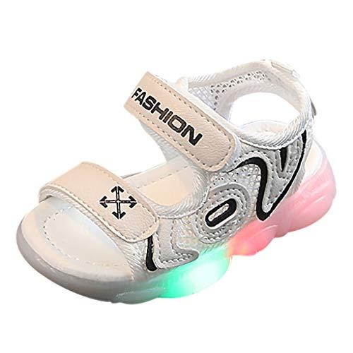 YWLINK Zapatos De Playa con Luz LED De Malla para El Comercio...