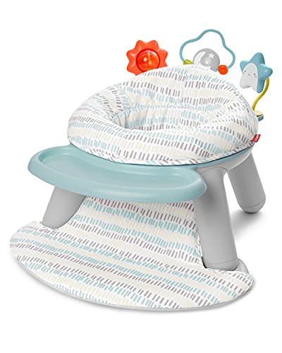 Skip Hop 2-in-1 Sit-up Activity Baby Chair, Silver Lining Cloud