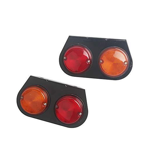 HEHEMM Luz trasera de freno de marcha atrás para camión, color rojo y amarillo, 24 V (2 unidades)