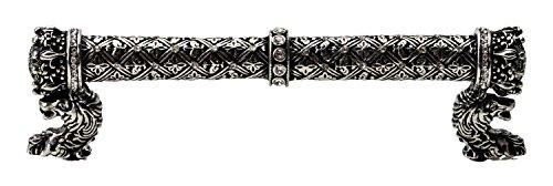 Carpe Diem Hardware 6122-9C Crowning Glory Queen Anne O.C. Pull with Swarovski Crystals, 5-Inch