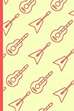 Guitar Pattern Notebook: Cool Fun Rock Instrument Small Lined Notebook for Kids, Boys, Girls, Adults ~ 6' x 9'