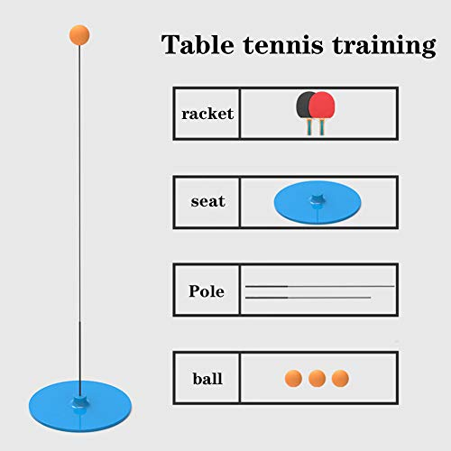 New XUE Table Tennis Trainer Tool with Elastic Soft Shaft Sports Set Indoor Outdoor Exercise Accesso...