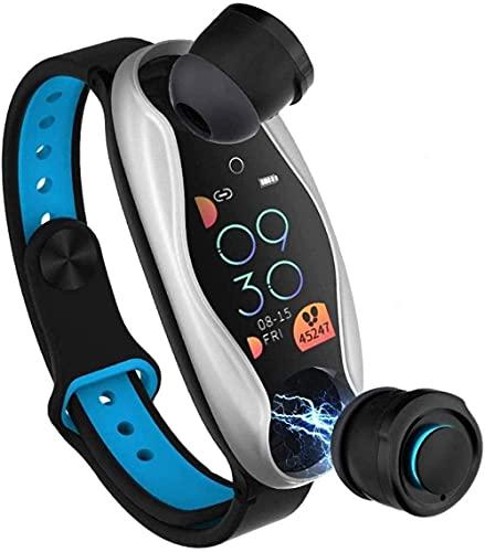 Reloj Inteligente Fitness Pulsera Inalámbrico Bluetooth Auriculares 2 en 1 Smartwatch IP67 Impermeable Sport Smartwatch Fitness Tracker Reloj Pulsera Inteligente