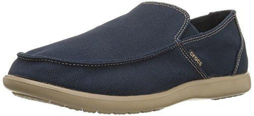 Crocs Santa Cruz Clean Cut Loafer, Hombre Mocasín, Azul (Navy/Tumbleweed), 42-43 EU