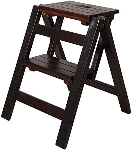 XITER trapladder houten klapstoel voor kinderen volwassenen keuken kleine ladders multifunctionele trappenbank met 2 stappen