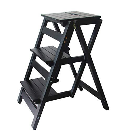 JPL Taburetes para el hogar, taburete plegable multifunción para el hogar, silla con escalera de 3 escalones, zapatero, estante para flores, taburete para la cocina Carga máxima 150 kg (4 colores, ta
