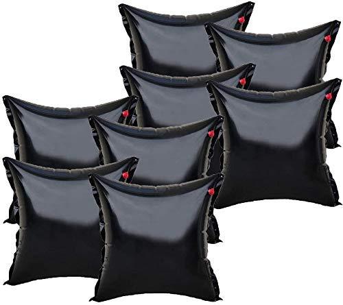 well2wellness 8 x Luftkissen, Winterkissen und Poolkissen Premium Black Edition für Pool Abdeckplanen