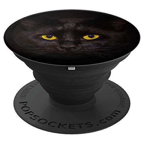 Die schwarze Katze - Handyhalter für Tierfreunde - PopSockets Ausziehbarer Sockel und Griff für Smartphones und Tablets