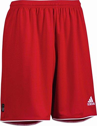 adidas Parma II SHT WO - Pantalón corto para hombre, color rojo/blanco, talla XXS