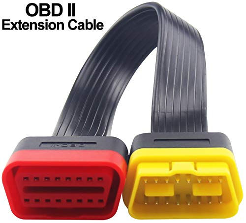 OBD2 Extension Cable, Professional Automotive Diagnostic Scan Tool Full 16 Pin Extension Cable for OBDII Scanner Forscan Check All Car Vehicles Computer Engine Code Reader - 60cm/23.6in