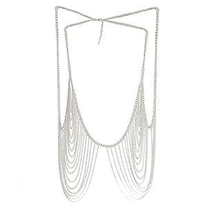 Fashion Body Chain Jewelry Bikini Waist Silver Beach Harness Necklace