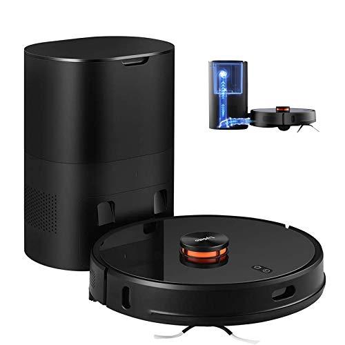 Lydsto R1 Robot Aspirador con función de Limpieza 2700Pa 250ml Tanque de Agua 3L estación de succión automática Limpieza programada para alfombras de Pelo de Animales Negro
