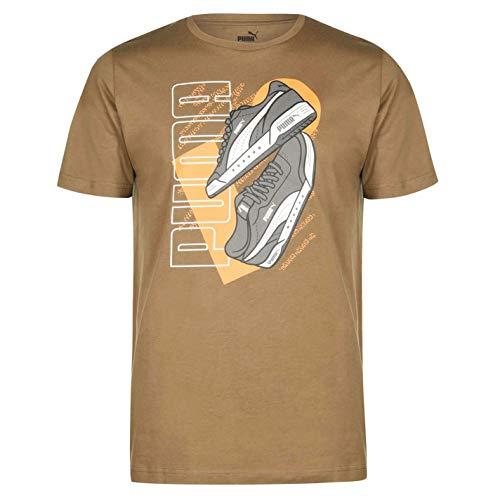 PUMA Hombre Sneaker QT Camiseta Deportiva Casual Manga Corta Olivino 2XL