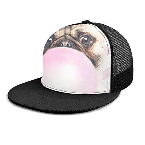 Baseball Cap Mops Kaugummi Snapback Flat Bill Hip Hop Hüte Trucker Hat für Männer Frauen schwarz