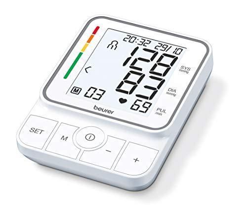Beurer BM 51 easyClip bloeddrukmeter voor de bovenarm met innovatieve clipmanchet voor het eenvoudig aanbrengen met slechts een hand, volautomatische bloeddruk- en hartslagmeting aan de bovenarm