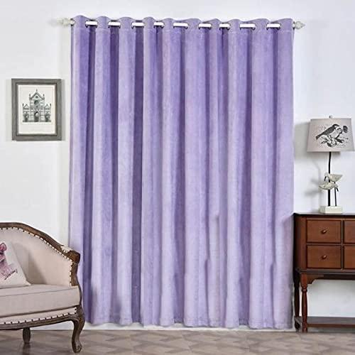 Balsa Circle 2 pcs 52inch x 96inch Lavender Premium Velvet Blackout Window Curtains Drapes Panels with Grommet Top