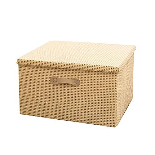 Dabeigouzzhiwl scatole per armadio, Borse pieghevoli dell'organizzatore dell'organizzatore di abbigliamento, ottimo per vestiti, coperte, armadi, camere da letto e altro 1 pz (S 15.3x10.6x10.2in, m 19