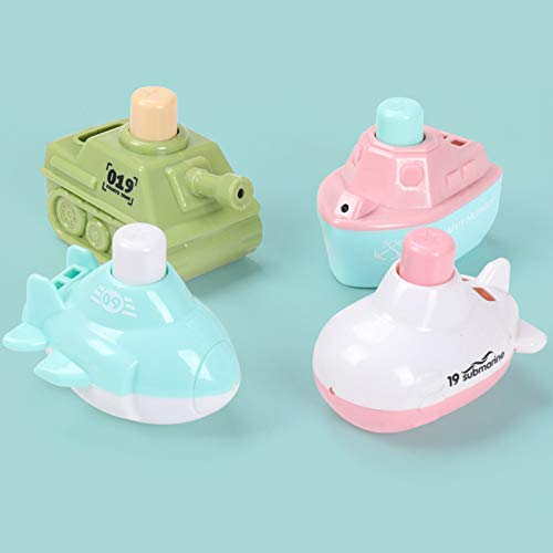 Juguetes De Baño Juguetes Flotantes Para Barcos De Baño (4 Piezas), Pistola De Agua Juguetes Suaves Para El Baño Para Bebés, Juguetes Para La Bañera De Aprendizaje Para La Bañera Y Juguetes(Color:UNA)